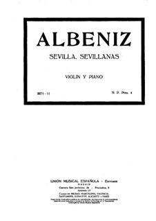 No.3 Севилья: Для скрипки и фортепиано by Исаак Альбенис