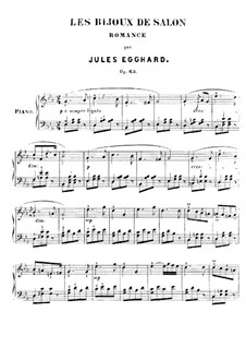 Романс для фортепиано, Op.63 No.1: Романс для фортепиано by Жюль Эггхард