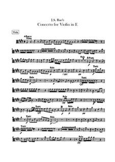Концерт для скрипки, струнных и бассо континуо No.2 ми мажор, BWV 1042: Партия альта by Иоганн Себастьян Бах