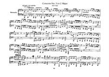Бранденбургский концерт No.3 соль мажор, BWV 1048: Переложение для фортепиано в четыре руки – партии by Иоганн Себастьян Бах