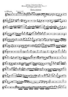 Бранденбургский концерт No.5 ре мажор, BWV 1050: Партия флейты by Иоганн Себастьян Бах