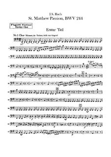 Вся оратория: Оркестр II, Партия фагота by Иоганн Себастьян Бах