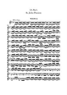 St John Passion, BWV 245: Партия второй скрипки by Иоганн Себастьян Бах