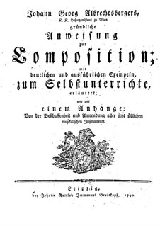 Фундаментальное руководство по композиции: Главы 1-5 by Иоганн Георг Альбрехтсбергер