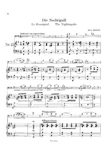 Соловей: Для виолончели и фортепиано by Александр Алябьев