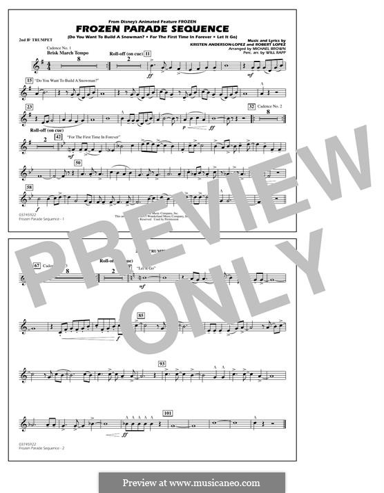 Frozen Parade Sequence: 2nd Bb Trumpet part by Robert Lopez, Kristen Anderson-Lopez