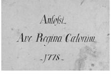 Ave Regina Caelorum: Ave Regina Caelorum by Pasquale Anfossi
