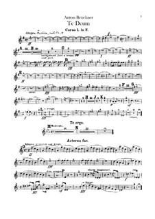 Te Deum Laudamus, WAB 45: Партии валторн by Антон Брукнер