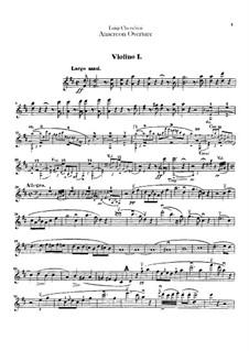 Анакреон, или Мимолётная любовь: Увертюра – Партии первой и второй скрипок by Луиджи Керубини