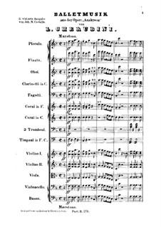 Анакреон, или Мимолётная любовь: Балетная музыка by Луиджи Керубини