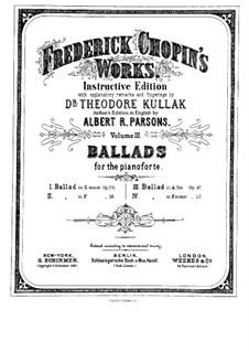 Баллада No.1 соль минор, Op.23: Для фортепиано by Фредерик Шопен