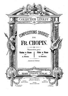 No.15 ре-бемоль мажор: Для скрипки (или флейты) и фортепиано by Фредерик Шопен