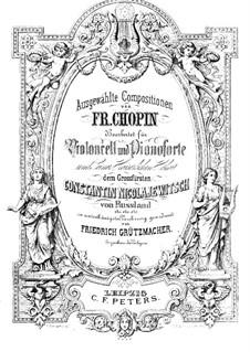 Вальсы, Op.34: No.2, для виолончели и фортепиано by Фредерик Шопен