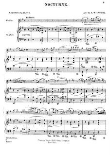 Ноктюрны, Op.37: No.1, для скрипки и фортепиано by Фредерик Шопен