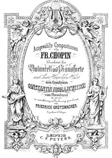 Полонез ля-бемоль мажор 'Героический', Op.53: Для виолончели и фортепиано by Фредерик Шопен
