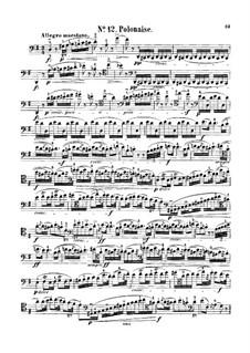 Полонез ля-бемоль мажор 'Героический', Op.53: Для виолончели и фортепиано – сольная партия by Фредерик Шопен