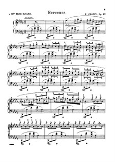 Колыбельная ре-бемоль мажор, Op.57: Для фортепиано (с аппликатурой) by Фредерик Шопен