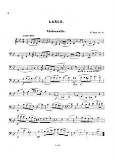 Соната для виолончели и фортепиано соль минор, Op.65: Часть III – сольная партия by Фредерик Шопен