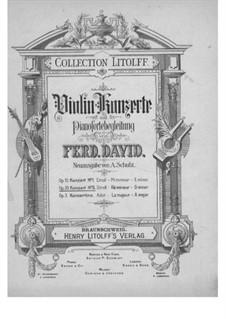 Концерт для скрипки с оркестром No.5 ре минор, Op.35: Версия для скрипки и фортепиано by Фердинанд Давид