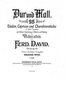 Двадцать пять этюдов, каприсов и характерных пьес для скрипки, Op.39: Книга I by Фердинанд Давид