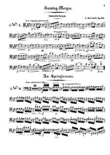 Четыре пьесы для  виолончели и фортепиано, Op.20: Сольная партия by Карл Давыдов