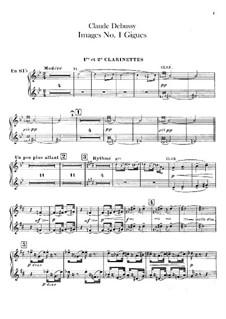 Set III, No.1 Gigues, L.122: Партии кларнетов by Клод Дебюсси