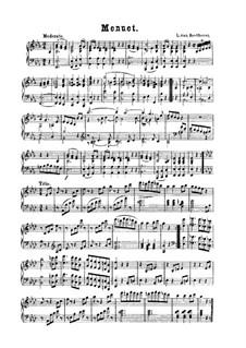 Менуэт ми-бемоль мажор: Менуэт ми-бемоль мажор by Людвиг ван Бетховен