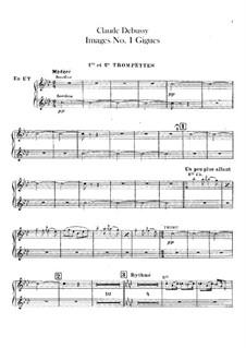 Set III, No.1 Gigues, L.122: Партии труб by Клод Дебюсси