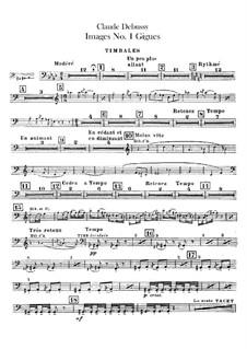Set III, No.1 Gigues, L.122: Партии ударных by Клод Дебюсси