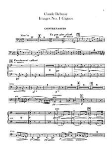 Set III, No.1 Gigues, L.122: Партия контрабаса by Клод Дебюсси