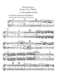 Set III, No.2 Iberia, L.122: Партии флейт by Клод Дебюсси