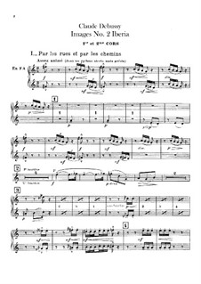 Set III, No.2 Iberia, L.122: Партии валторн by Клод Дебюсси