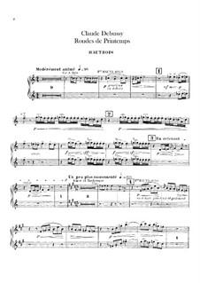 Set III, No.3 Rondes du printemps, L.122: Партии гобоев и английского рожка by Клод Дебюсси