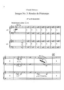 Set III, No.3 Rondes du printemps, L.122: Партия арф by Клод Дебюсси
