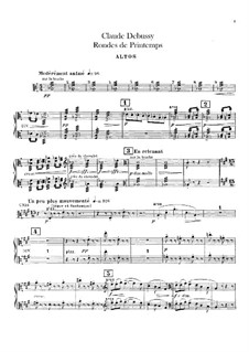 Set III, No.3 Rondes du printemps, L.122: Партия альтов by Клод Дебюсси