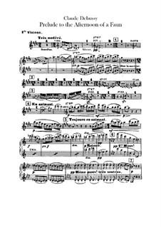 Послеполуденный отдых фавна, L.86: Партия I скрипок by Клод Дебюсси