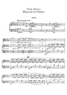Рапсодия No.1 соль-бемоль мажор, L.116: Партия альтов by Клод Дебюсси