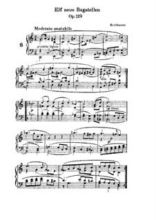 Одиннадцать новых багателей для фортепиано, Op.119: Багатель No.8 by Людвиг ван Бетховен