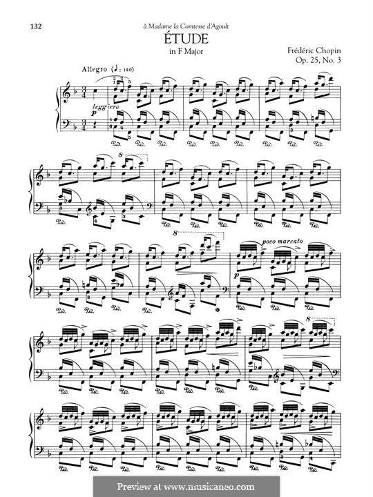 No.3 фа мажор: Для фортепиано by Фредерик Шопен