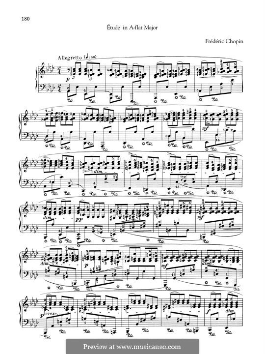 Три этюда для Мошелеса, B.130 KK IIb/3: No.2 A Flat Major by Фредерик Шопен