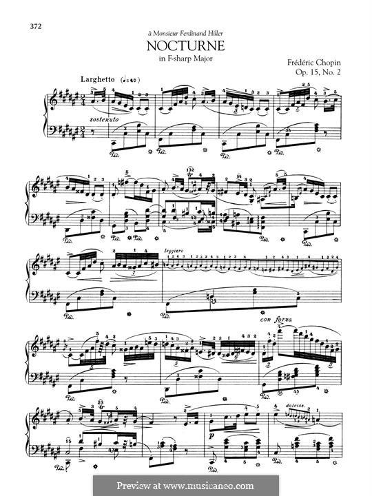 Ноктюрны, Op.15: No.2 in F Sharp Major by Фредерик Шопен