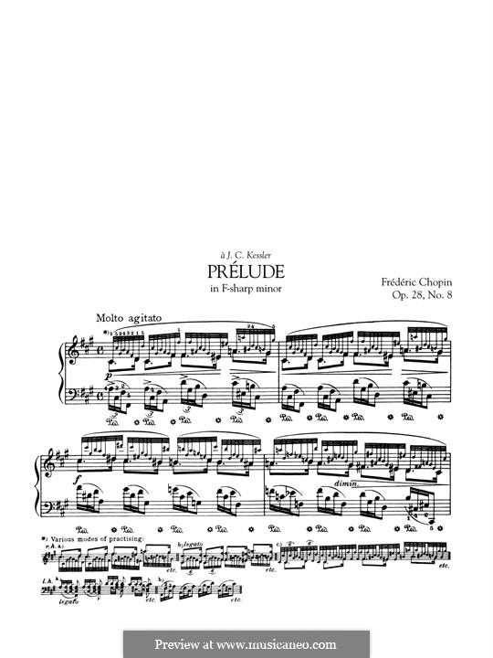 No.8 фа-диез минор: Для фортепиано by Фредерик Шопен