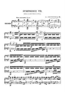 Вся симфония: Версия для фортепиано в 4 руки by Людвиг ван Бетховен