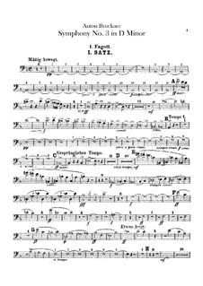Симфония No.3 ре минор, WAB 103: Партии фаготов by Антон Брукнер