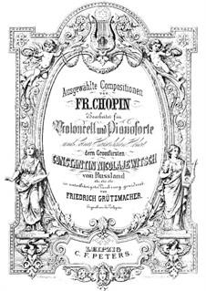 Мазурки, Op.7: No.1, для виолончели и фортепиано by Фредерик Шопен