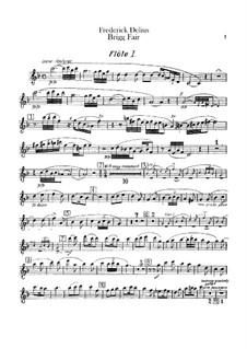 Brigg Fair : Партии флейт by Фредерик Делиус