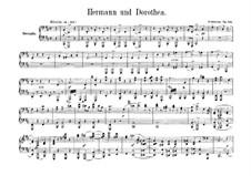 Герман и Доротея, Op.136: Версия для фортепиано в четыре руки – партии by Роберт Шуман