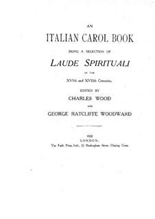 An Italian Carol Book: An Italian Carol Book by Чарльз Вуд, Джованни Джакомо Гастольди