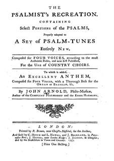 The Psalmist's Recreation: The Psalmist's Recreation by John Arnold