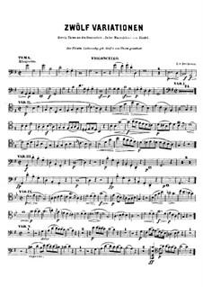 Двенадцать вариаций на тему из оратории 'Иуда Маккавей': Для виолончели (или скрипки) – партия виолончели by Людвиг ван Бетховен